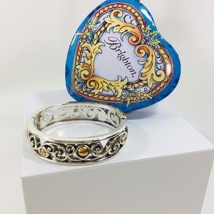 Brighton two toned swirl bangle bracelet